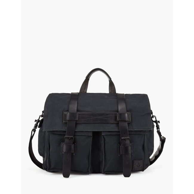 Cheap Belstaff Men BLACK COLONIAL MESSENGER SHOULDER BAG Online