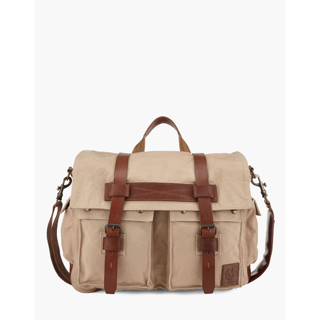 Cheap Belstaff Men SAND COLONIAL MESSENGER SHOULDER BAG Online