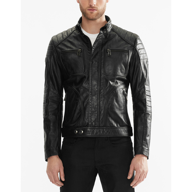 Cheap Belstaff Men BLACK WEYBRIDGE JACKET Online