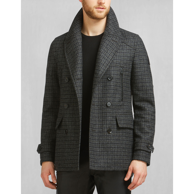 Cheap Belstaff Men CHARCOAL CORRINGHAM PEACOAT Online