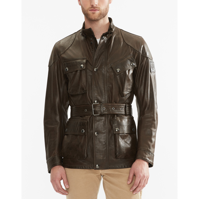 Cheap Belstaff Men   BLACK/BROWN THE PANTHER JACKET Online