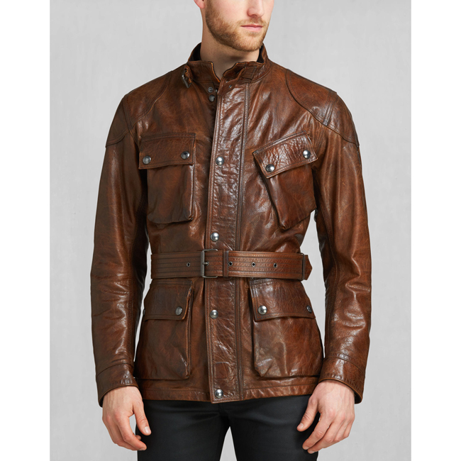Cheap Belstaff Men   COGNAC THE PANTHER JACKET Online