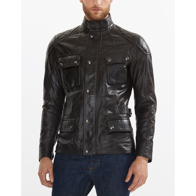 Cheap Belstaff Men ANTIQUE BLACK TURNER JACKET Online