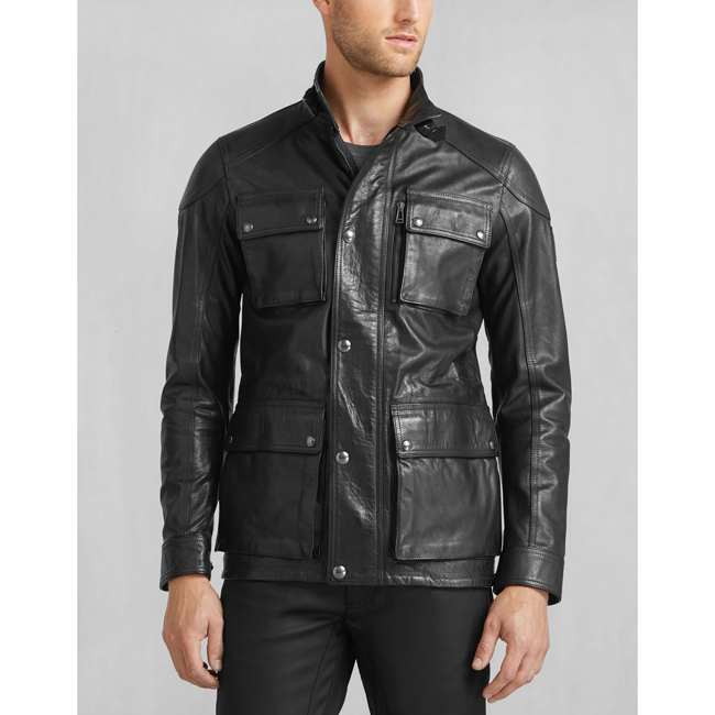 Cheap Belstaff Men BLACK TRIALMASTER 2015 JACKET Online
