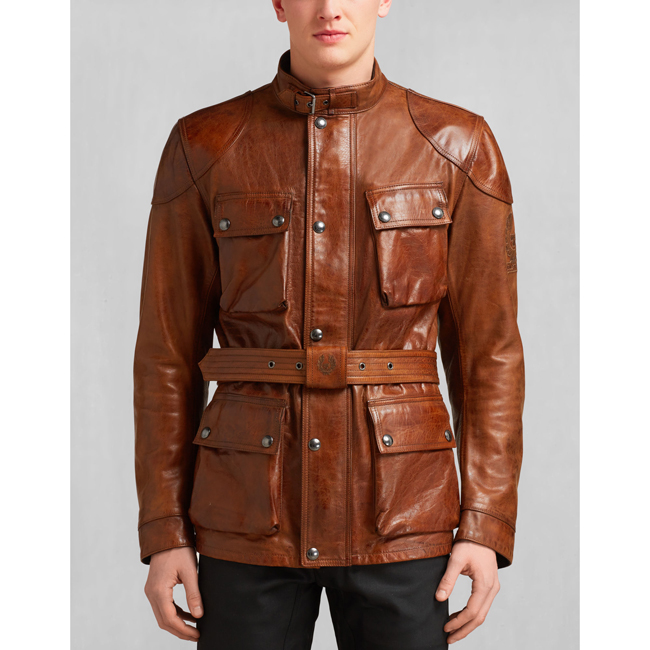 Cheap Belstaff Men BURNT CUERO CLASSIC TOURIST TROPHY JACKET Online