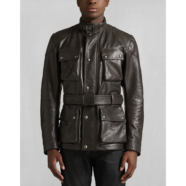 Cheap Belstaff Men ANTIQUE BLACK CLASSIC TOURIST TROPHY JACKET Online