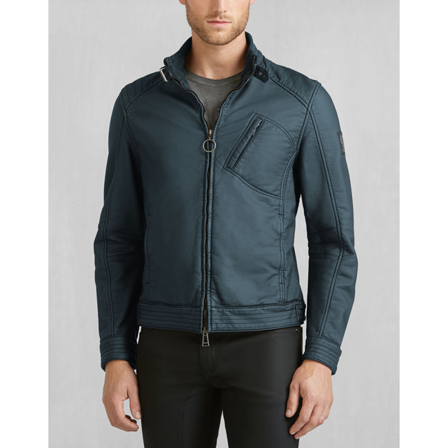 Cheap Belstaff Men DENIM BLUE H RACER JACKET Online