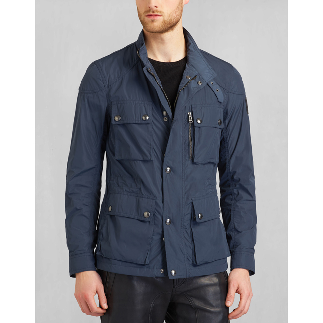 Cheap Belstaff Men NAVY BLUE TRIALMASTER 2015 BIKER JACKET Online