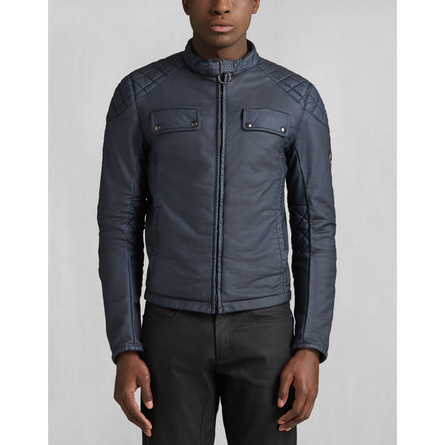 Cheap Belstaff Men DENIM BLUE XMAN RACING BLOUSON Online