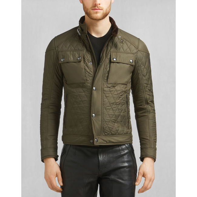 Cheap Belstaff Men FADED OLIVE RACEMASTER QUILT BLOUSON Online