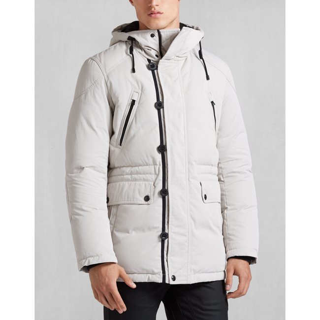 Cheap Belstaff Men PALE GREY DOWNHAM JACKET Online