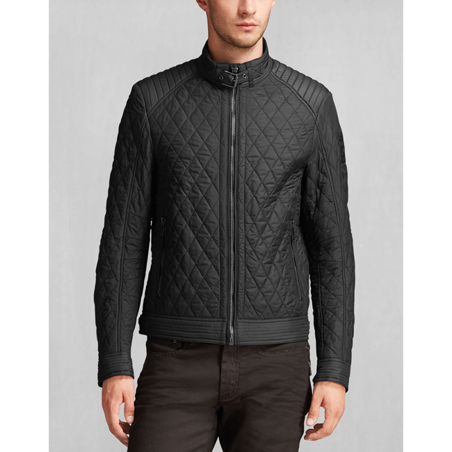 Cheap Belstaff Men BLACK BRAMLEY JACKET Online