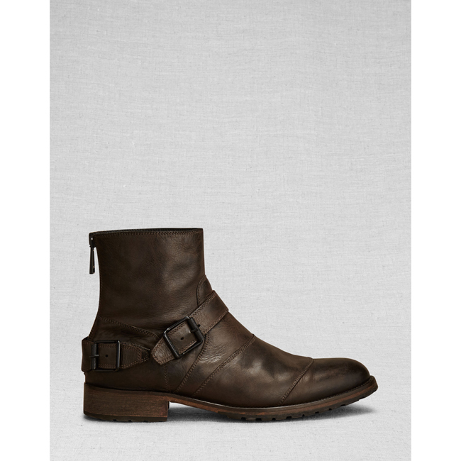 Cheap Belstaff Men  BLACK/BROWN TRIALMASTER SHORT BOOT Online