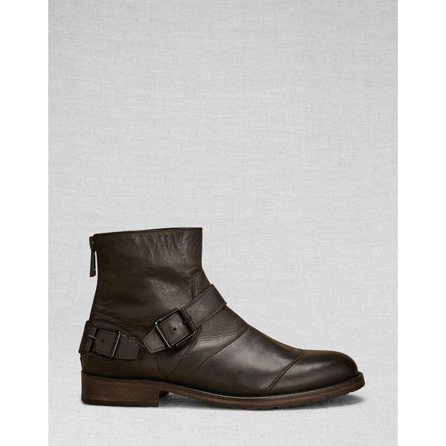 Cheap Belstaff Men  BLACK TRIALMASTER SHORT BOOT Online