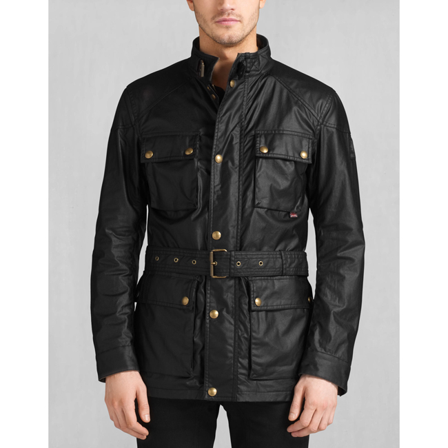 Cheap Belstaff Men BLACK THE ROADMASTER JACKET Online