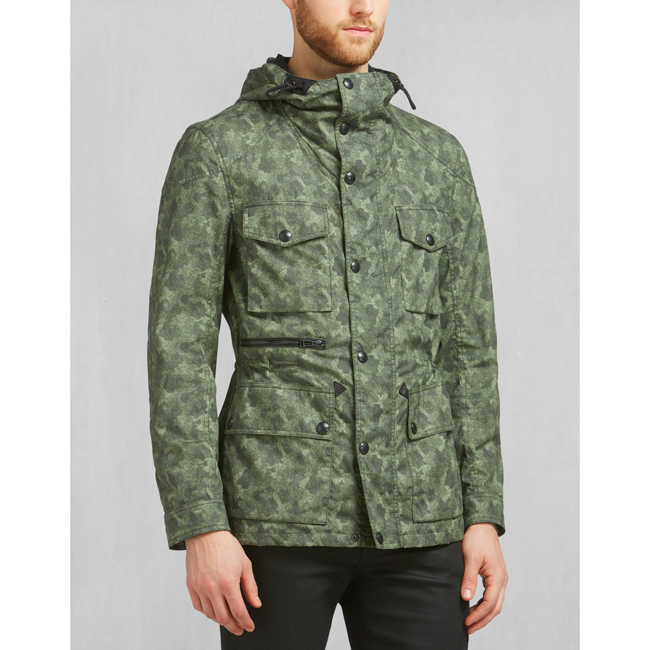 Cheap Belstaff Men PALE MILITARY ABERFORD PRINTED JACKET Online