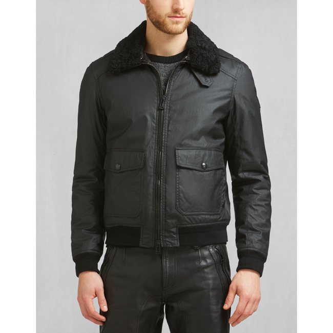 Cheap Belstaff Men BLACK MORTIMER BLOUSON JACKET Online