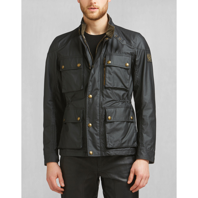 Cheap Belstaff Men BLACK TRIALMASTER JACKET Online