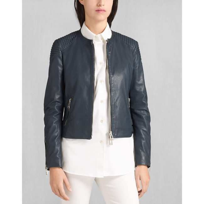 Cheap Belstaff Women  NAVY ENGEL BLOUSON Online