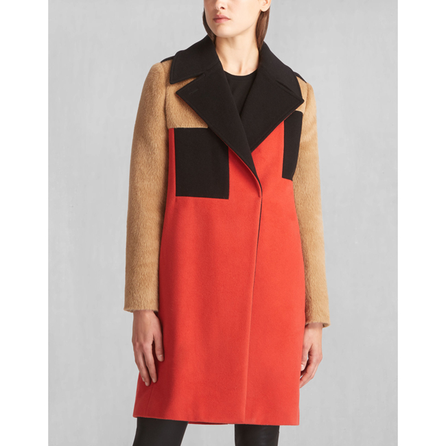 Cheap Belstaff Women CORAL RED ROLLINS COAT Online