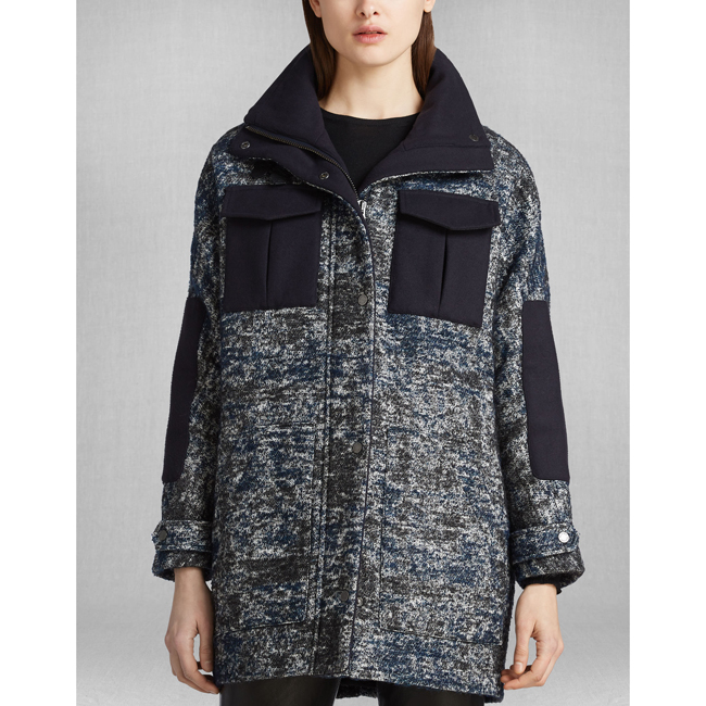 Cheap Belstaff Women BLACK/BLUE ODELL COAT Online