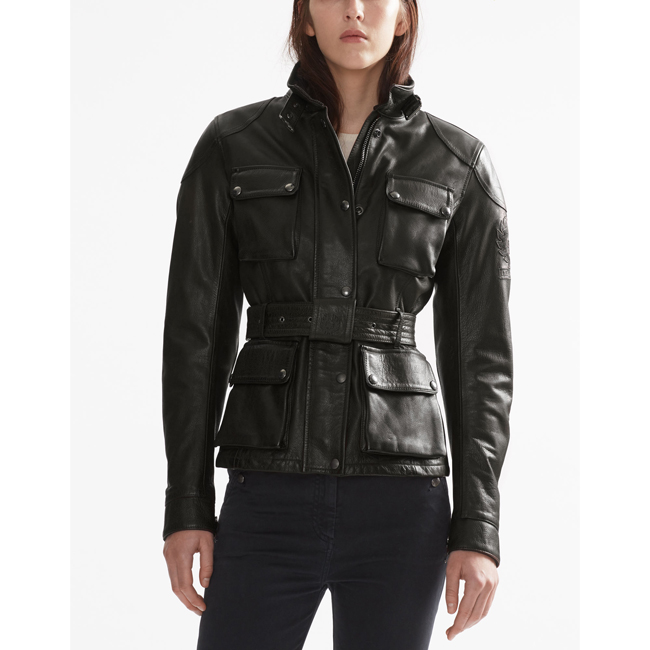 Cheap Belstaff Women ANTIQUE BLACK CLASSIC TOURIST TROPHY JACKET Online