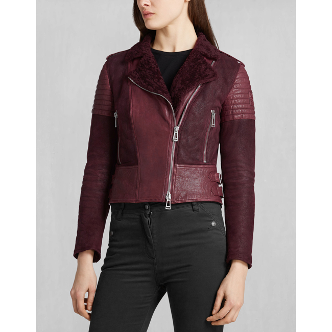 Cheap Belstaff Women CLARET ELLSWORTH BLOUSON Online