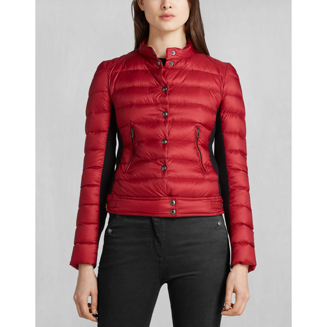 Cheap Belstaff Women RACING RED SILVERTHORN DOWN JACKET Online
