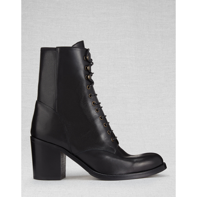 Cheap Belstaff Women  BLACK LIV TYLER HINDLEY SHORT BOOTS Online