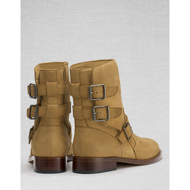 Cheap Belstaff Women TAN BEDDINGTON SHORT BOOTS Online