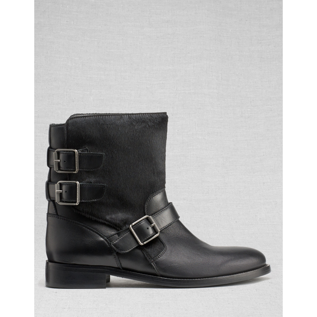 Cheap Belstaff Women BLACK BEDDINGTON SHORT BOOTS Online