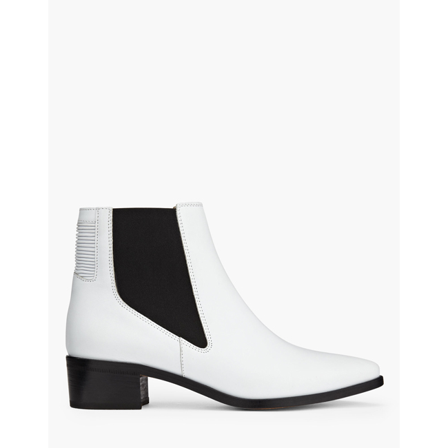 Cheap Belstaff Women WHITE DARTMOOR CHELSEA BOOTS Online