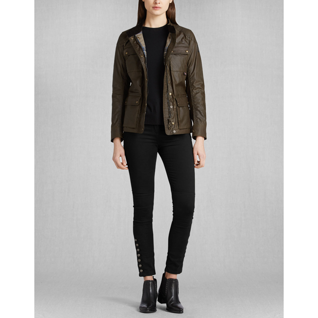 Cheap Belstaff Women FADED OLIVE ROADMASTER JACKET Online