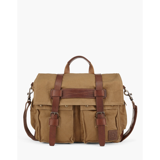 Cheap Belstaff Men KHAKI COLONIAL MESSENGER SHOULDER BAG Online