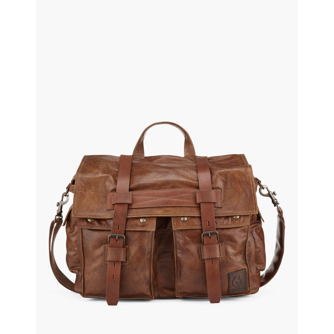 Cheap Belstaff Men  COGNAC COLONIAL MESSENGER SHOULDER BAG Online