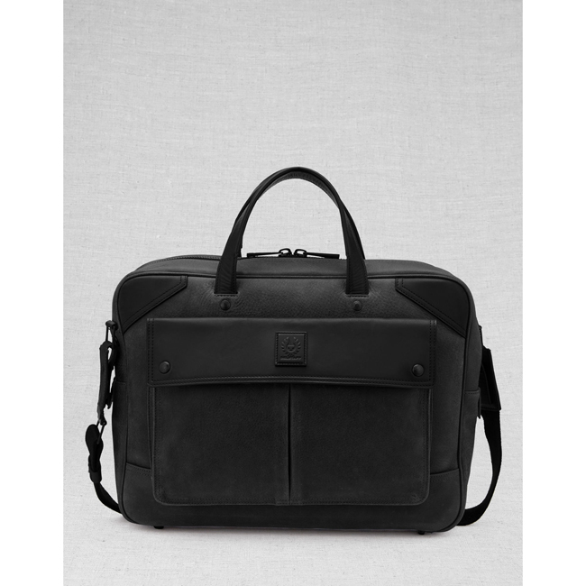 Cheap Belstaff Men BLACK CITYMASTER BRIEFCASE Online