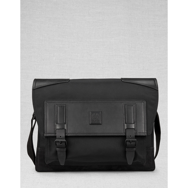 Cheap Belstaff Men BLACK ROADMASTER MESSENGER BAG Online