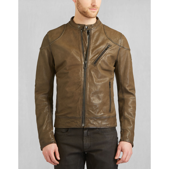 Cheap Belstaff Men Pale Military MAXFORD BLOUSON JACKET Online