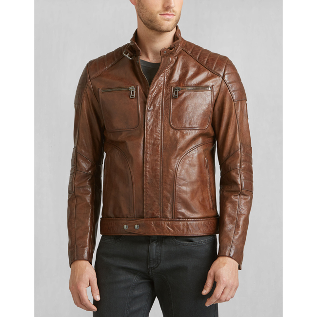 Cheap Belstaff Men COGNAC WEYBRIDGE JACKET Online