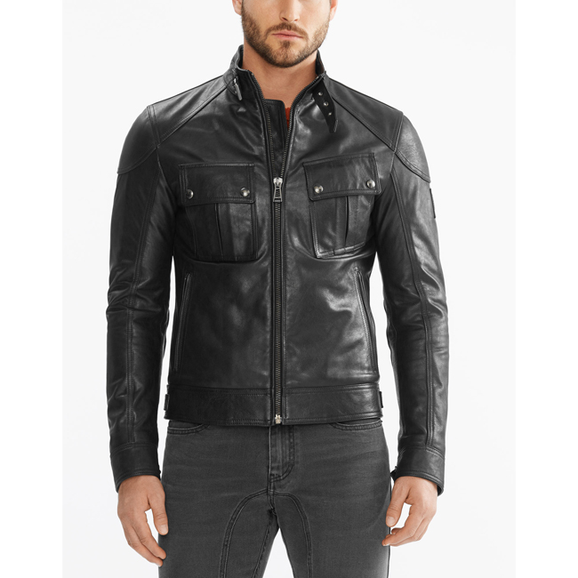 Cheap Belstaff Men BLACK ASHINGDALE JACKET Online