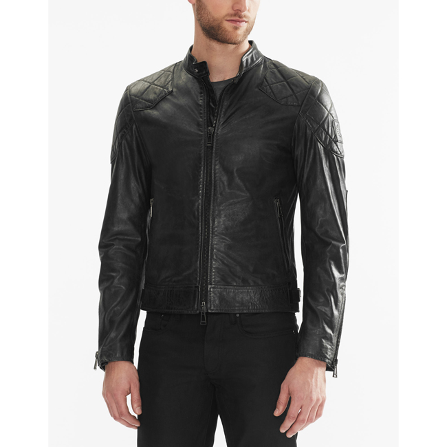 Cheap Belstaff Men BLACK THE OUTLAW JACKET Online