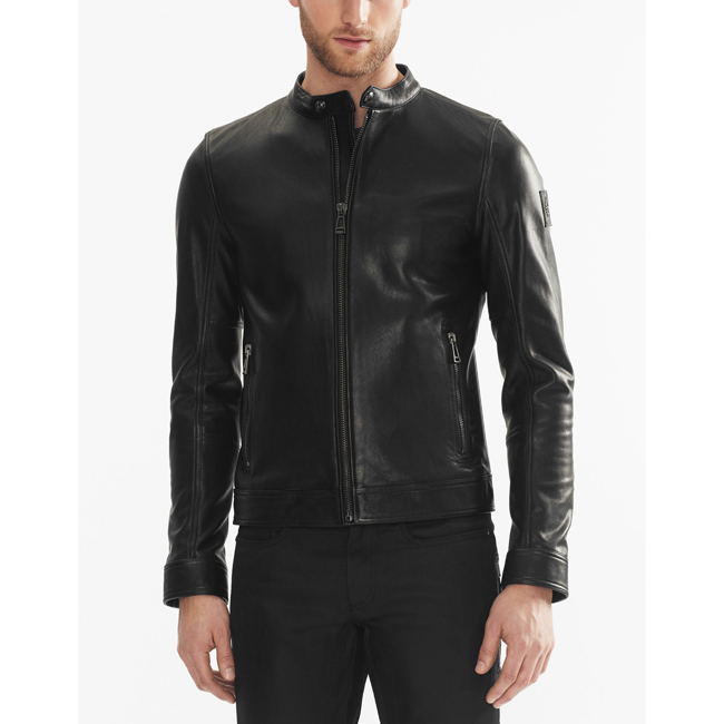 Cheap Belstaff Men  BLACK NEW GRANSDEN JACKET Online
