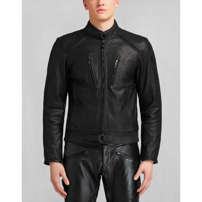 Cheap Belstaff Men BLACK LAVANT BLOUSON Online