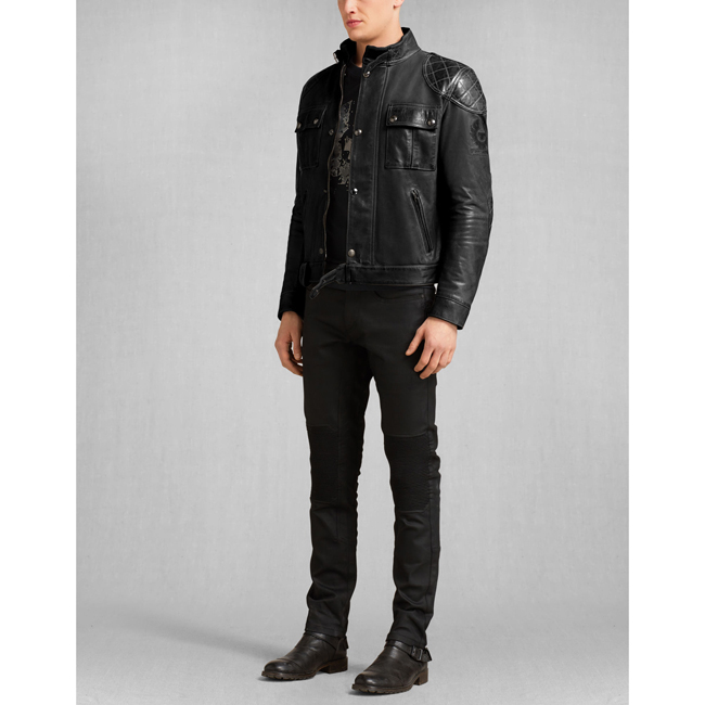 Cheap Belstaff Men ANTIQUE BLACK BROOKLANDS MOTORCYCLE JACKET Online