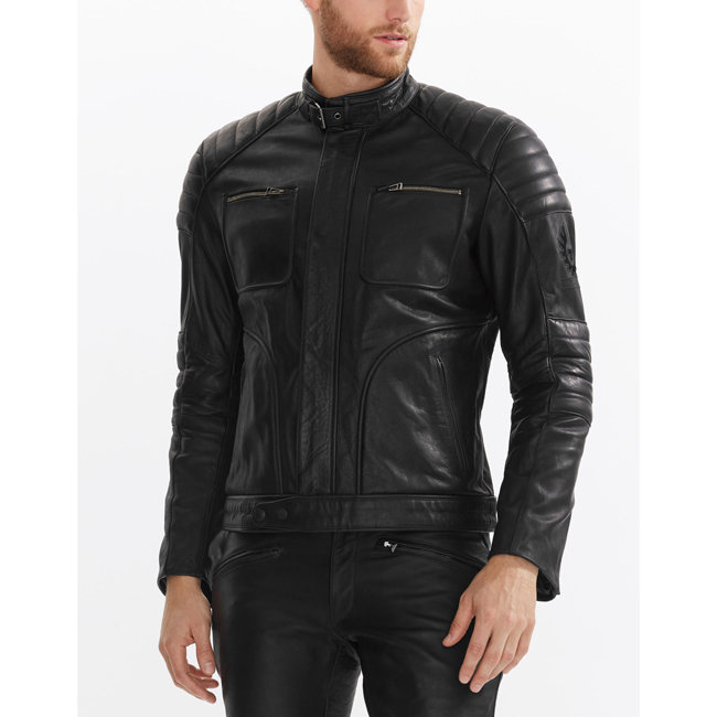 Cheap Belstaff Men BLACK RALEIGH JACKET Online