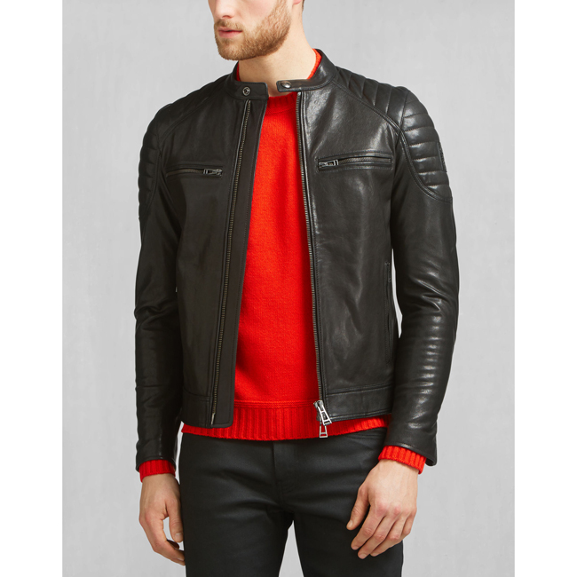 Cheap Belstaff Men BLACK STONEHAM JACKET Online