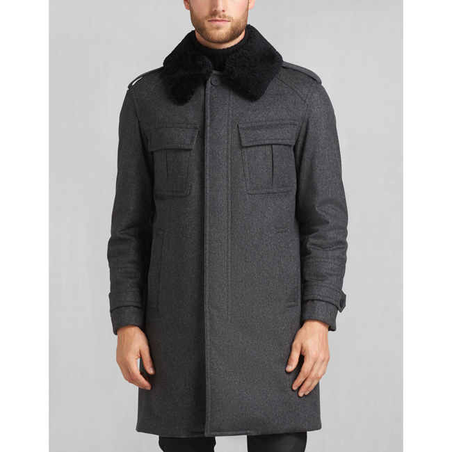 Cheap Belstaff Men CHARCOAL FALKENHAM COAT Online