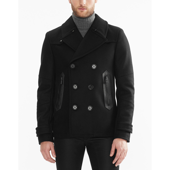 Cheap Belstaff Men BLACK STODDARD PEACOAT Online