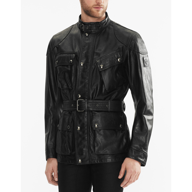 Cheap Belstaff Men BLACK THE PANTHER JACKET Online