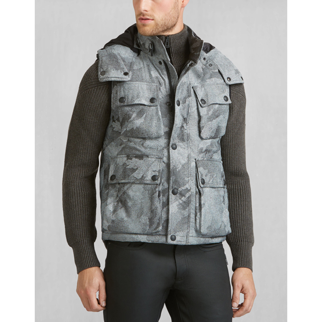 Cheap Belstaff Men LIGHT GREY WESTERLAND VEST Online